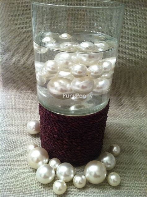 Vase Filler Pearls by 80 Unique Jumbo Ivory White Pearls Vase Fillers