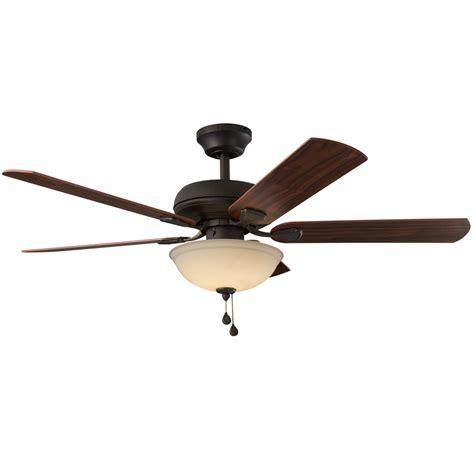 oil rubbed bronze ceiling fan shop harbor breeze cross branch 52 in oil rubbed bronze