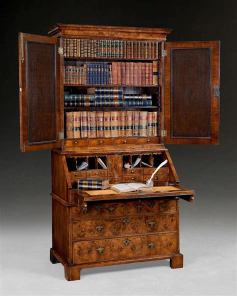 bureau bookcase burr walnut bureau bookcase for sale at 1stdibs