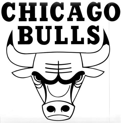chicago bulls logo black  white  inspired