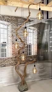 Lampenschirm Für Alte Stehlampe : stehlampe aus 294 cm h he altem eichenzweig mit lampenschirme in modell und farbe ihrer wahl in ~ A.2002-acura-tl-radio.info Haus und Dekorationen
