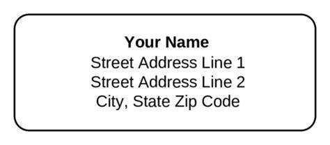 standard address label text  label templates