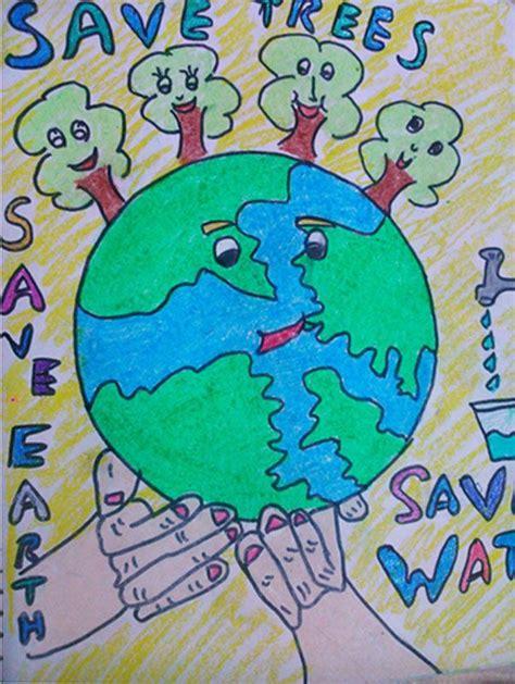 save trees crayon drawings   earth drawings