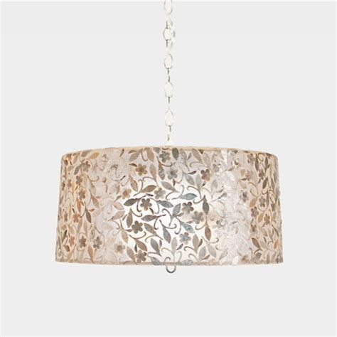 Capiz Drum Chandelier by Worlds Away Capiz Shell Drum Pendant Clara Small Worlds