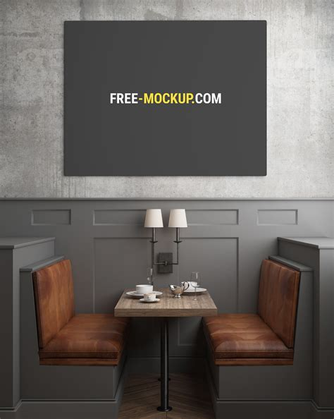 Collection of menu mockups that can help you create different high quality restaurant scenes. Restaurant Poster/Painting Mockup | Free Mockup