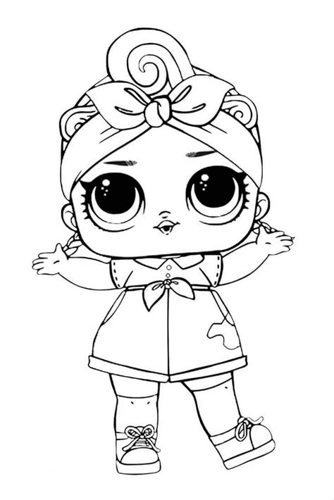 lol suprise doll coloring page coloring pages baby