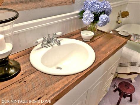 Bathroom Countertop Ideas by Vintage Home Master Bath Redo Featuring Reclaimed