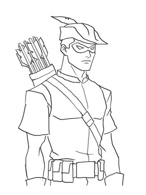 young justice coloring pages   print