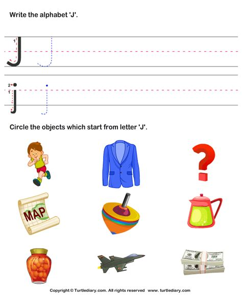 identify words that start with j worksheet turtle diary 440   identify words that start with j