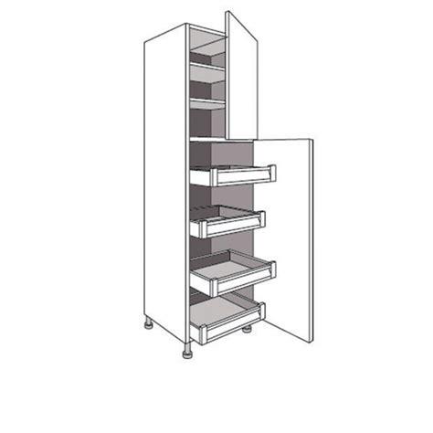 colonne de rangement pour cuisine colonne de cuisine avec 4 tiroirs et 2 tablettes lumio