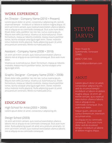 Resume Template Name by 19 Free Resume Templates You Can Customize In Microsoft Word