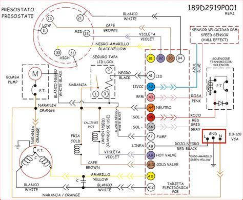 plano electrico lavadora mabe yoreparo