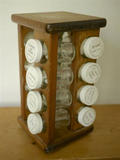 Spice Rack Countertop by Vintage 1970s Solid Wood Lazy Susan Countertop Spice