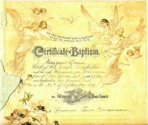 Catholic Baptism Certificate