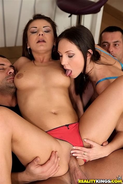 Naughty Girl Enjoyed Her First Group Sex MILF Fox
