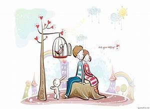 Cute cartoon love couple drawings images & pics