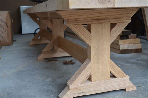 woodwork  leg dining table plans  plans home