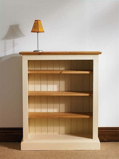 Small Bookshelf by Painted Pine Medium Bookcase Mottisfont Mbk206 The Made