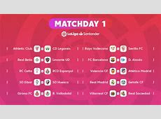 The fixtures for LaLiga Santander 201819 News Liga de