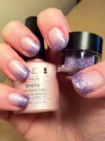 Brush up and polish cnd shellac nail art glitter