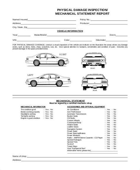 image result  vehicle damage inspection form template