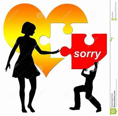 Sorry Accept Woman Clip Concept Clipart Illustration