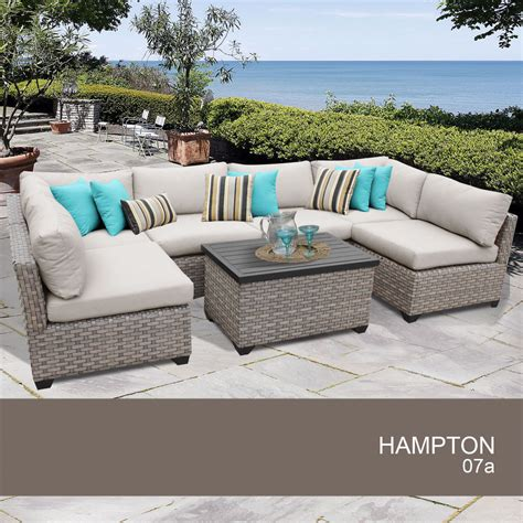 hton wicker patio furniture hton 7 outdoor wicker patio furniture set 07a ebay