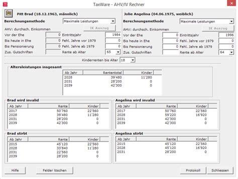 ahv berechnungen taxware ag