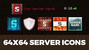 Minecraft Server Icon Templates - YouTube