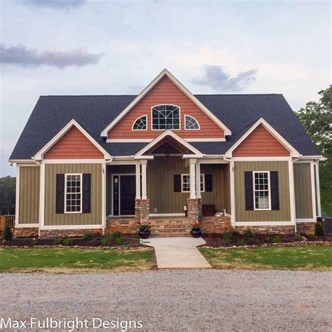 4 bedroom 3 bath house for 4 bedroom house plan craftsman home design by max fulbright 21004