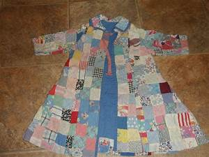 old patchwork quilt turned to robe cute With robe patchwork