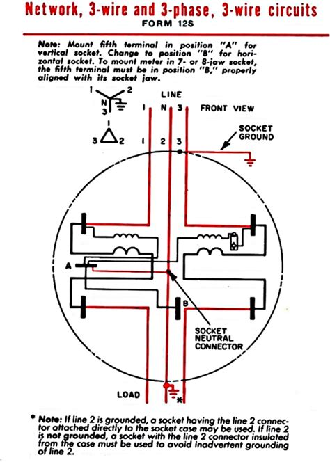 3 Phase Meter Socket Wiring Diagram by Poly Phase Fm 12s 200a 277v 3ph 3w