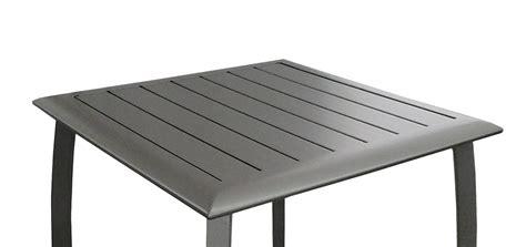 table de jardin carree  cm livourne grise achetez nos tables de jardin carrees  cm