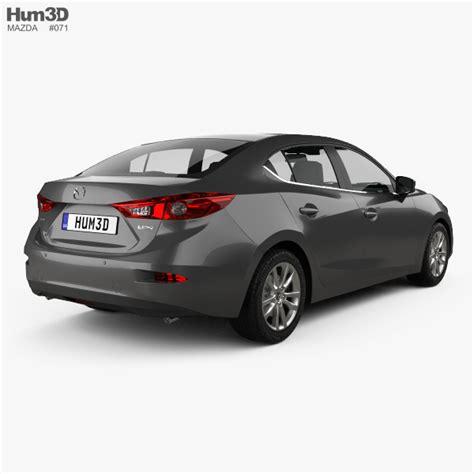 Mazda Sedan Models by Mazda 3 Sedan 2017 3d Model Hum3d
