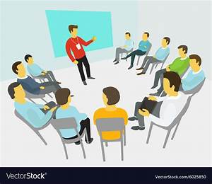 Group of business people having a meeting Vector Image