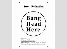 Bang Head Here 12 x 18 inches Buy Bang Head Here 12 x
