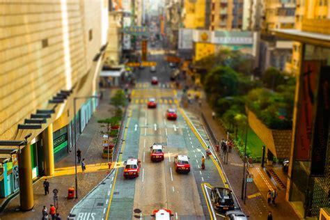 tilt shift   hong kong    miniature