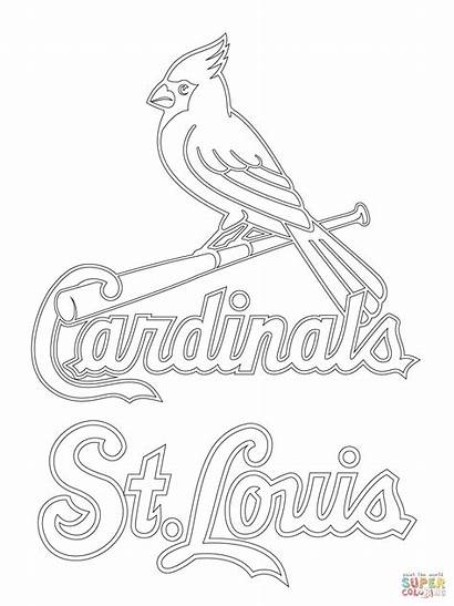 Cardinals Louis St Coloring Baseball Printable