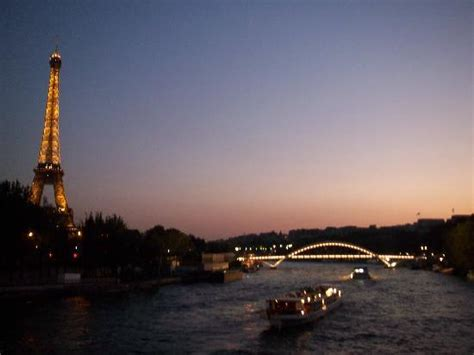 el sena al atardecer picture  paris ile de france