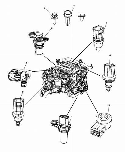Engine Sensors Jeep Patriot 2008 Parts 4l