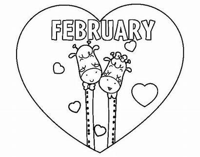 February Coloring Pages Printable Colorear Febrero El