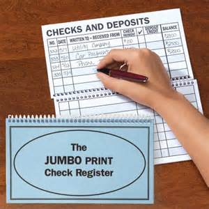 Large Print Check Register Printable