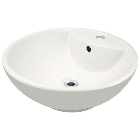 home depot vessel sinks polaris sinks porcelain vessel sink in white p041v w the