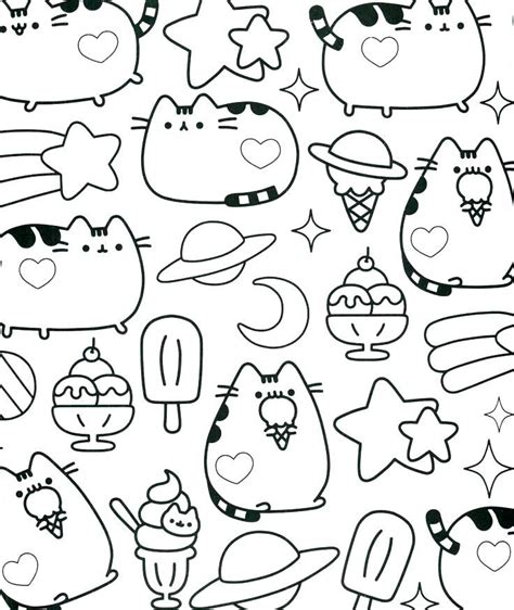 pusheen coloring pictures  coloring pages   cat