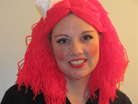 How To Make Raggedy Ann Wig For Dolls Party Invitations