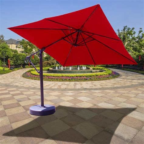 galtech 10 ft aluminum square cantilever patio umbrella