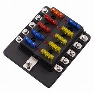 1 In 10 Out Fuse Box Screw Terminal Section Fuse Holder