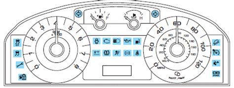 warning lights  chimes instrument cluster ford