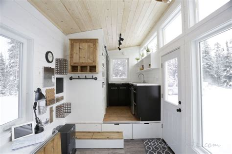 ana whites open concept tiny house features lounge