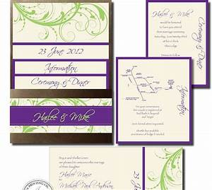 Wedding invitation blog pocket invitation purple lime for Lavender avenue wedding invitations